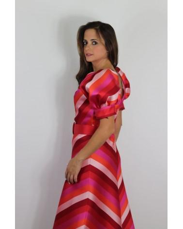 Vestido Matilde Cano Jacquard Estampado