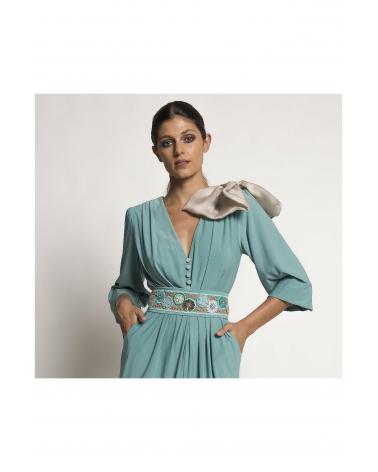 Vestido Corto Plisado Carla Ruiz